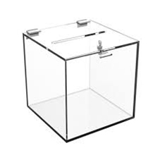 Ballot box with lock